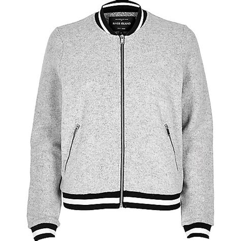 Jaket Bombber Scrimmer Light Grey Jaket Bomber Jaket Bomber light grey quilted bomber jacket jackets coats