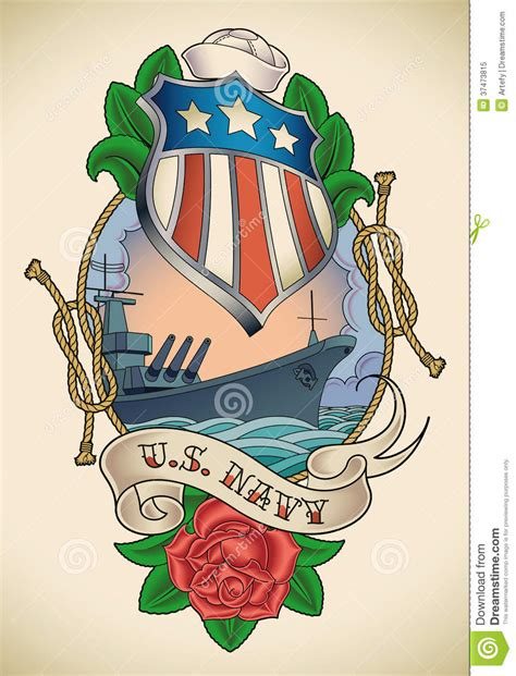 us navy tattoo royalty free stock photo image 37473815