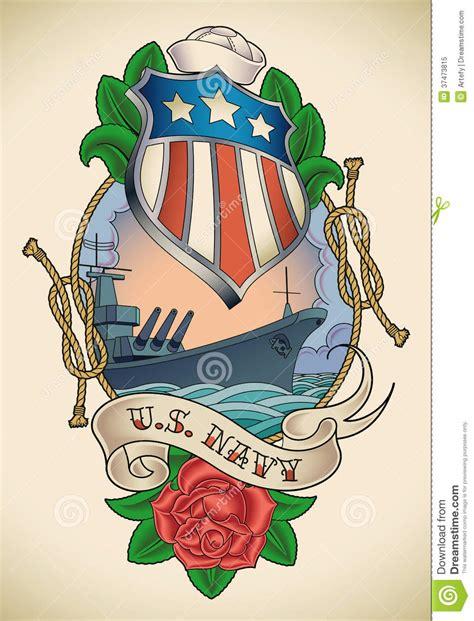us navy tattoo royalty free stock photo image 37473815