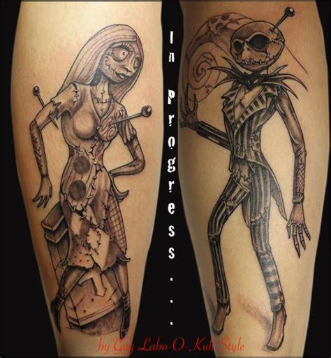 fantasy calf tim burton tattoo by guy labo o kult
