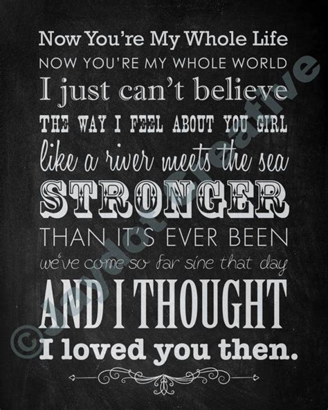 country music lyrics i love you joe brad paisley quot then quot printable lyrics artwork chalkboard