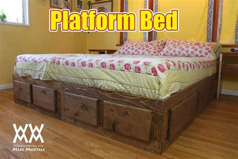 platform bed  lots  storage    video