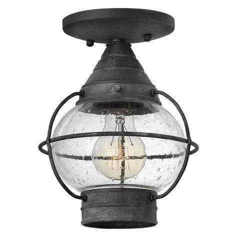 Cape Cod Light Fixtures Hinkley Lighting Cape Cod Aged Zinc To Ceiling Light 2203dz Destination Lighting