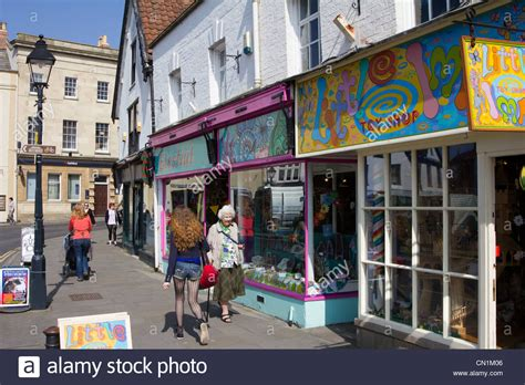 glastonbury town centre somerset england uk gb stock photo