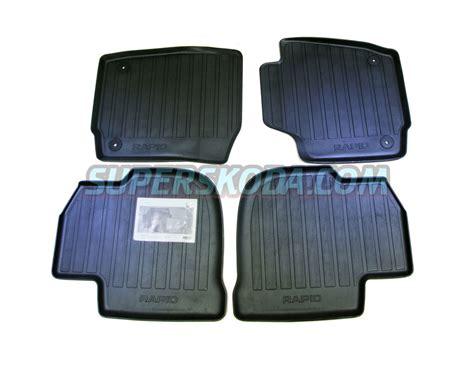 Skoda Floor Mats by Rapid Heavy Duty Rubber Floor Mats Original Skoda Auto