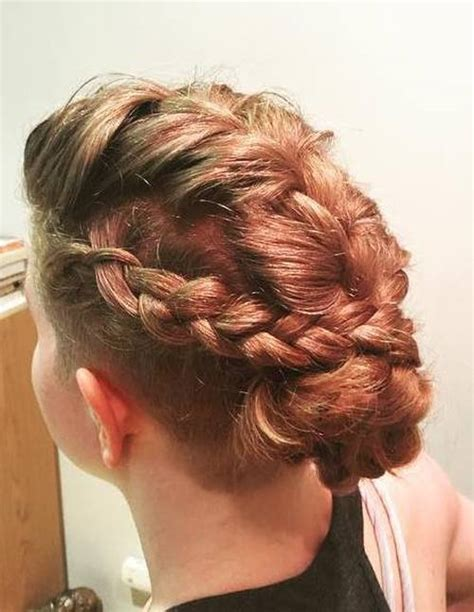 hair style interlok bun 40 quick and easy short hair buns to try