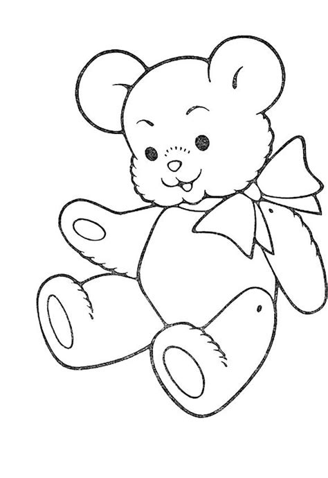 cute teddy bear coloring for kids teddy bear coloring