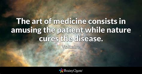 hans rosling best quote voltaire the art of medicine consists in amusing the