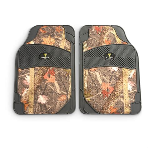 Camo Floor Mats by King S Camo 2 Pc All Weather Camouflage Floor Mat Set 593116 Floor Mats At Sportsman S Guide