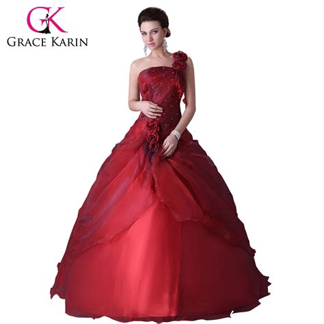 dresses for 2016 grace karin one shoulder gowns dress for 15