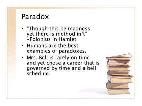 exle of paradox literary terms