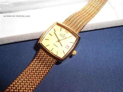 armbanduhr eden switzerland quartz datum vergoldet