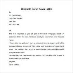 New Nursing Graduate Cover Letter by Nursing Cover Letter Template 9 Free Sles Exles