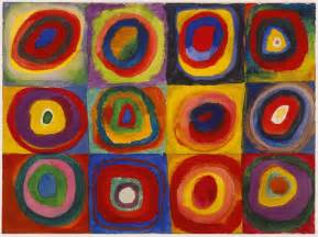 wassily kandinsky color study squares with concentric
