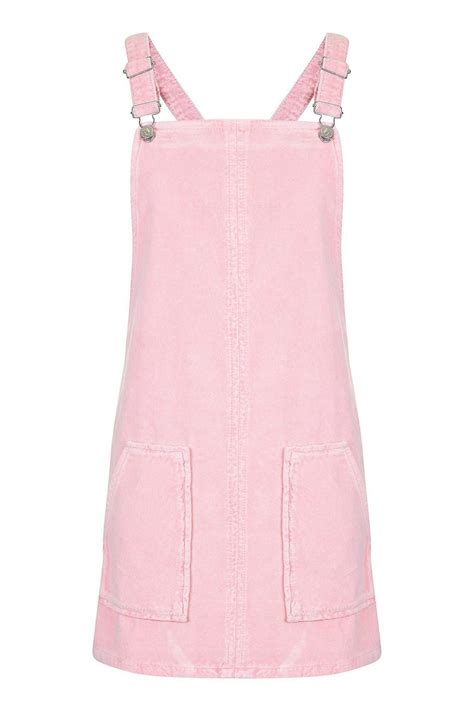 Pink Pinafore by Moto Pink Velvet Pinafore Dress Topshop