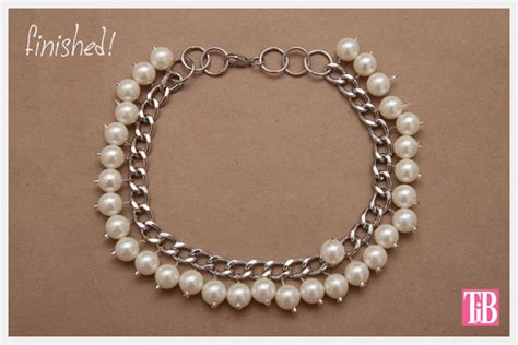 large chain and pearl necklace diy