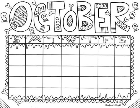 doodle and calendar october jpg doodles