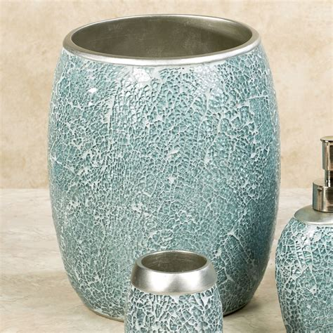 calm waters light aqua mosaic bath accessories