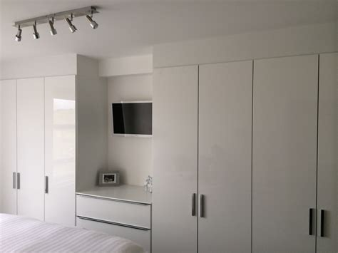 Fitted Wardrobes With Tv Space by Edinburgh Bedroom Furniture