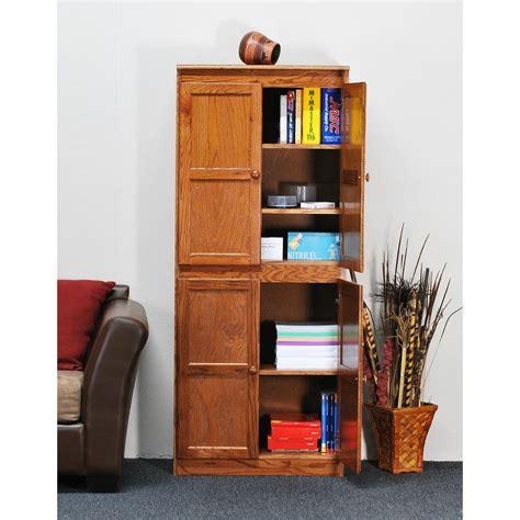 Wood Storage Pantry by Concepts In Wood Multi Use Storage Pantry In Oak
