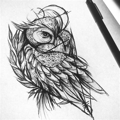 tattoo owl sketch owl tattoo ideas on pinterest geometric owl owl tattoo