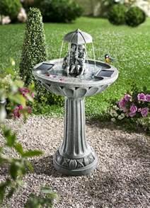 garten brunnen solar solar springbrunnen leuchtende dekoration bader