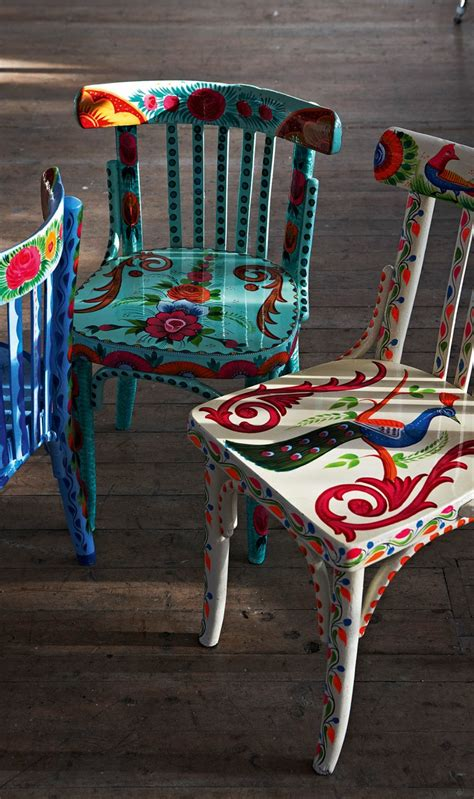 painted armchair a little bit of boho upcycled indian chairs