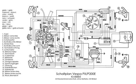 vespa px electric start wiring diagram k