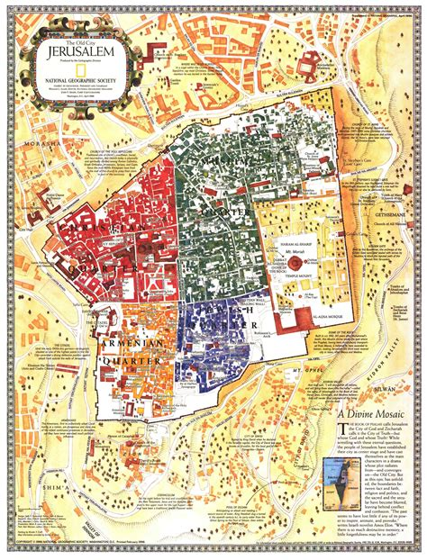 map of israel jerusalem city jerusalem israel map by national geographic
