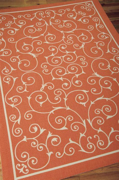 home  garden rs orange outdoor rug  nourison