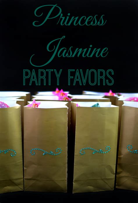 Princess Giveaways - princess jasmine party favors and photo spot as the bunny hops 174