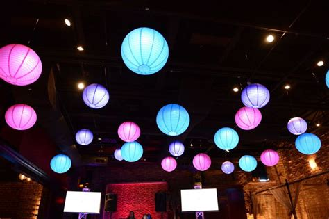 led lit paper lanterns hanging from ceiling ideas for b