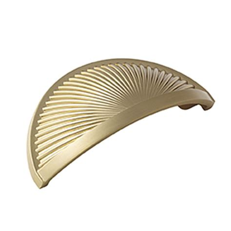Cup Cabinet Pull by Amerock Sea Grass 3 In 76 Mm Brushed Bronze Cabinet Cup