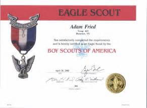 Eagle Scout Certificate Template by Eagle Scout Recognition Certificates Memes