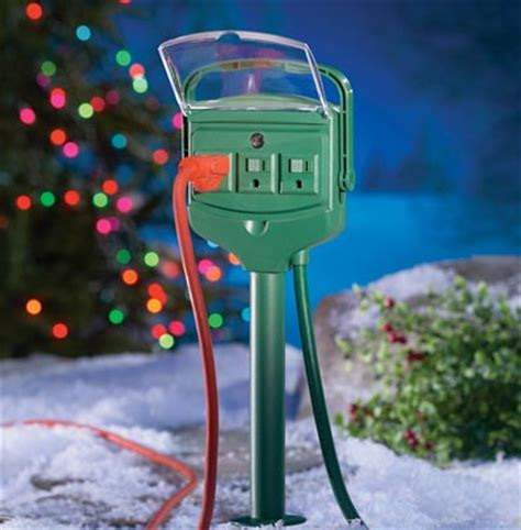 westinghouse 3 outlet ground stake perfect for christmas