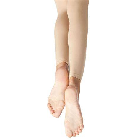 capezio light suntan stirrup tights capezio footless n140