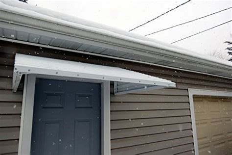 Aluminum Patio Door Awning Awning Kit Aluminum White 58 Quot Wide X 36 Quot Droop X 15 Quot Sides