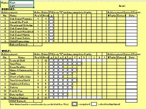 Cub Scout Treasurer Spreadsheet by Forms Cub Scout Pack 17 Elgin Illinois