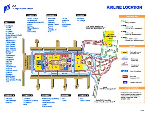 Map Of Los Angeles Airports by Los Angeles International Airport Terminal Map 1 World