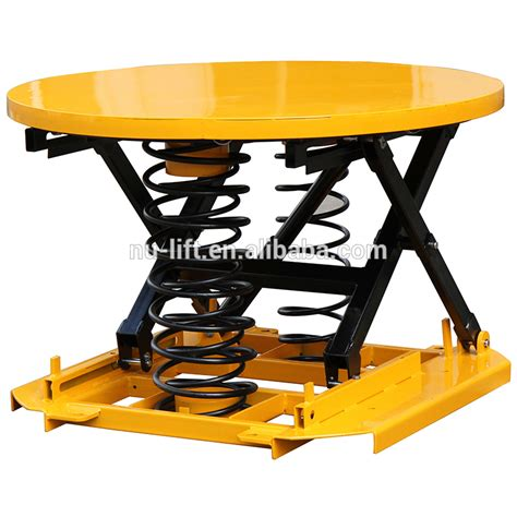 activated lift table platform pallet leveller