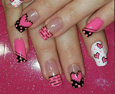 imagenes uñas decoradas pinceladas m 225 s de 1000 ideas sobre u 241 as acrilicas de moda en
