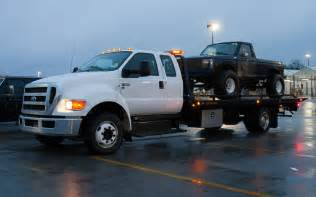 our weekend with a ford f 650 tow truck