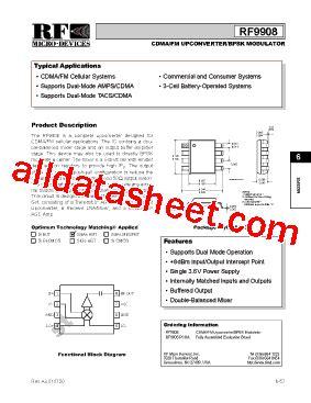 datasheet of rf diode rf9908 datasheet pdf rf micro devices