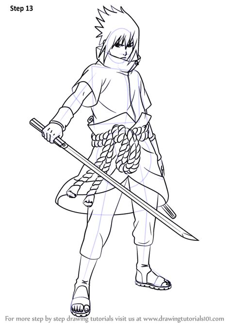 Tempat Pensil Pencil Anime Shippuden Uzumaki learn how to draw sasuke uchiha from step