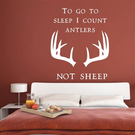 count antlers wall decal wall to go to sleep i count antlers not sheep wall decal cutzz