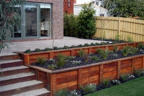 Garden Retaining Wall Ideas Beautifying Your Landscape Using Wooden Retaining Walls Wooden Retaining Walls Ideas Also