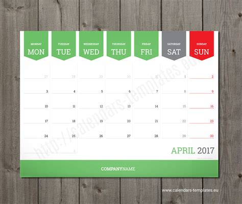 Calendar Planner Template Monthly Calendar 2018 Planner Wall Or Table Pad Planner Template