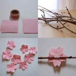 origami cherry blossom origami artesanato