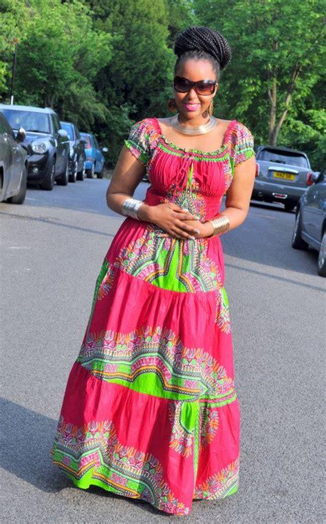 african bohemian looks afro bohemian gypsy maxi dress in a fuscia by