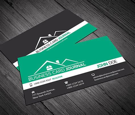 real estate business card template psd free psd real estate business card design template